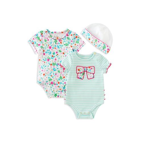 KATE SPADE NEW YORK Girls' 3-Piece Bodysuit & Hat Set - Baby