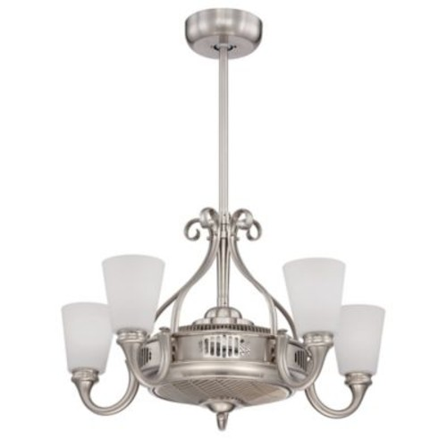 Savoy House 32-Inch 8-Light Indoor Borea Air Ionizing Ceiling Fan d'Lier in Satin Nickel