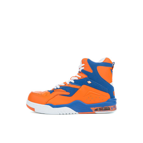 The Enforcer Hi DC Sneakers in Orange, Royal Blue and White