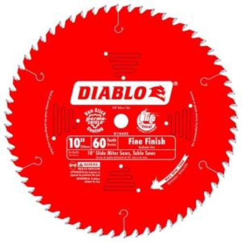 Diablo 10 in. x 60-Tooth Fine Finish Slide Miter Saw Blade