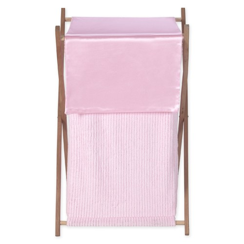 Sweet Jojo Designs Chenille Pink Collection Laundry Hamper