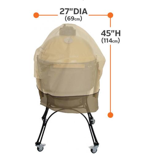 Classic Accessories Veranda Big Green Egg Barbecue BBQ Grill Patio Storage Cover, X-Large, Pebble/Bark/Earth