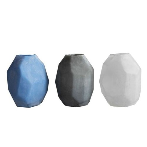 Assorted Glass Frosted Vases (Set of 3)