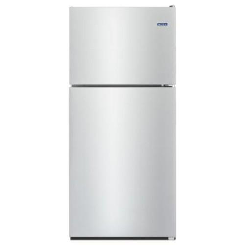 Maytag 30 in. W 18 cu. ft. Top Freezer Refrigerator in Fingerprint Resistant Stainless Steel