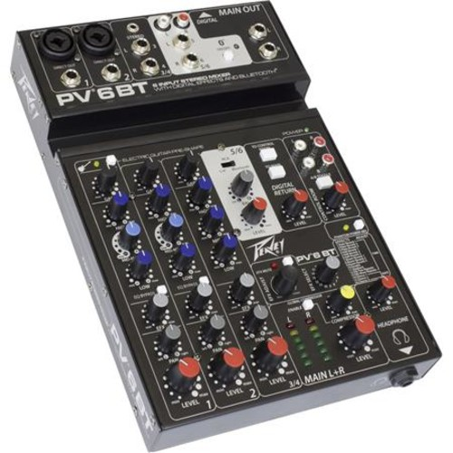 Peavey PV 6 BT Pro Audio Mixer with Bluetooth 03612590