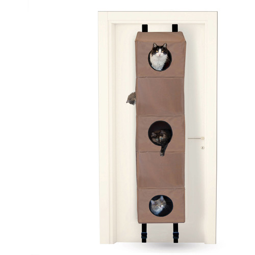 K&H Manufacturing Hangin' Cat Condo Tan [Standard Packaging, Small]