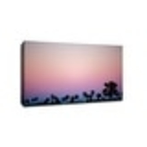Pink Sky - Los Angeles, California - Capturing America - 24x16 Gallery Wrapped Canvas Wall Art