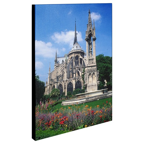 Notre Dame in Spring by Kathy Yates, 18x24-Inch Canvas Wall Art [18x24-Inch]