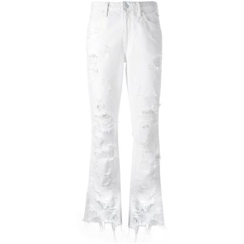 ALEXANDER WANG Distressed Cropped Jeans