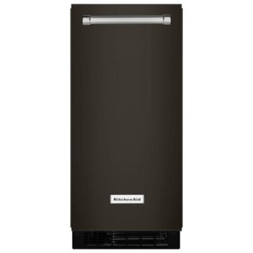 KitchenAid 15 in. 51 lbs. Built-In or Freestanding Ice Maker in Black Stainless