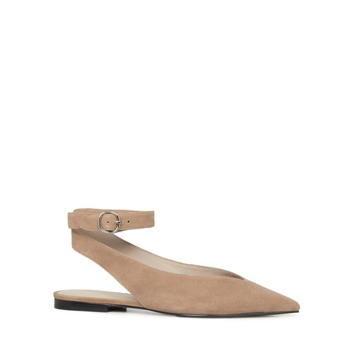 ALLSAINTS Cory Suede Pointed Toe Slingback Flats