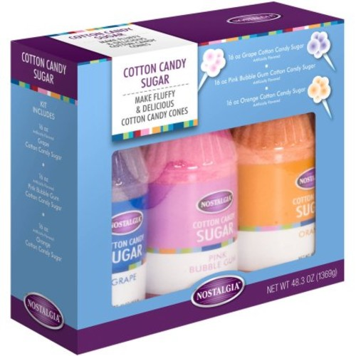 Nostalgia Cotton Candy Floss Sugar Accessory Kit