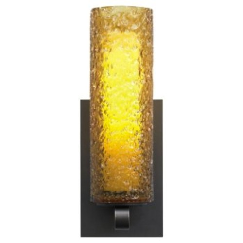 Mini-Rock Candy Cylinder Wall Sconce [Finish : Bronze; Light Option : Halogen]