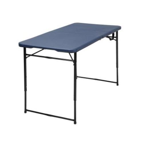 Cosco Dark Blue Adjustable Folding Tailgate Table