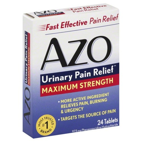 Azo Urinary Pain Relief, Maximum Strength, Tablets, 24 tablets