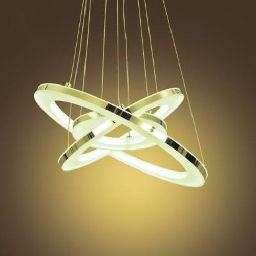 Unitary Acrylic Modern 3-Light LED Cascade Pendant; Warm White