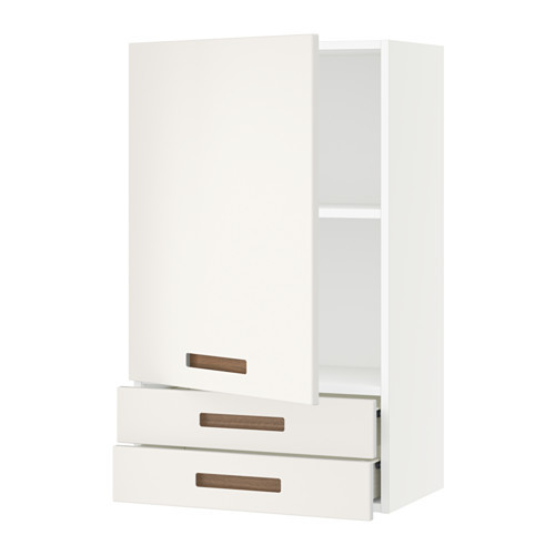 SEKTION Wall cabinet with door & 2 drawers, white Maximera, Ringhult white