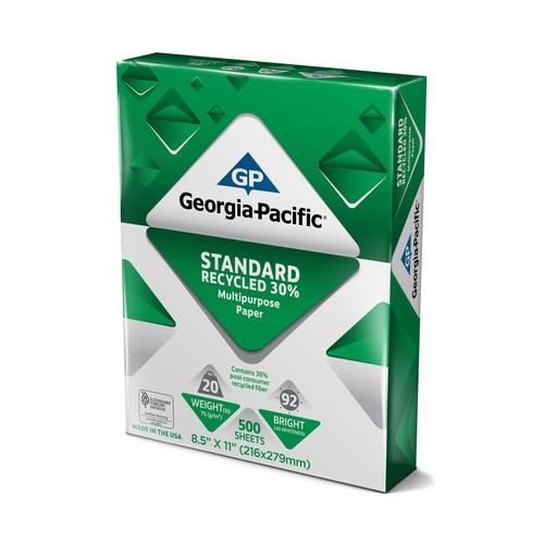 Georgia-Pacific 998623 Standard Recycled 30% Multipurpose Paper 8.5