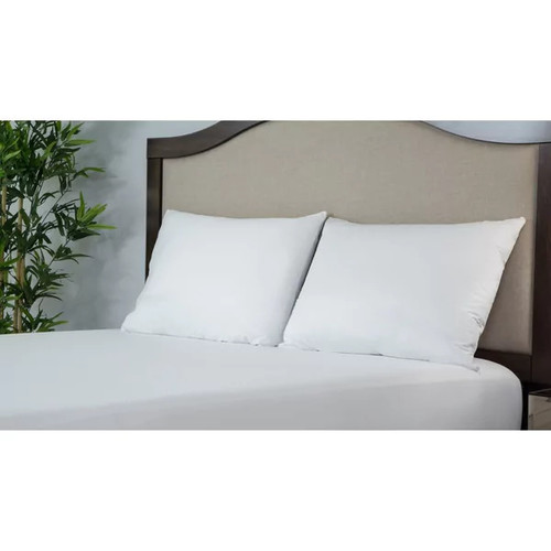 Protect-A-Bed ALLERZIP Smooth STANDARD Pillow Encasement 2 PACK - White