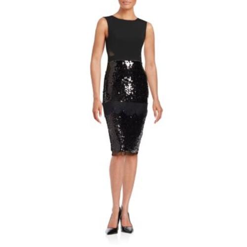 BCBGMAXAZRIA - Sequined Lace Dress