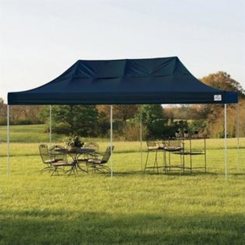 ShelterLogic 10'x20' Pro Pop-Up Canopy Straight Leg with Cover in Black