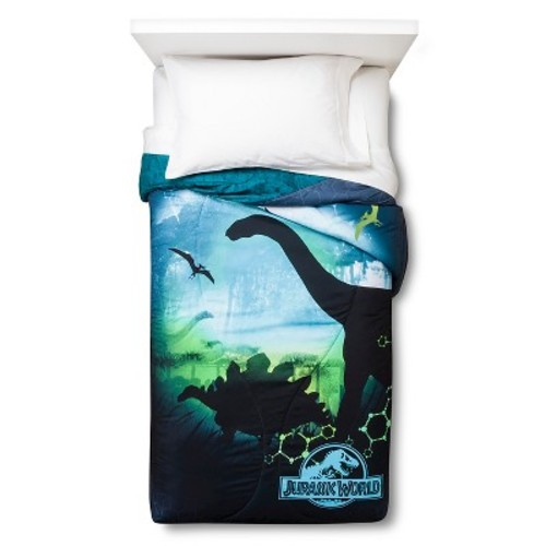 Jurassic World Comforter - Blue/Green (Twin)