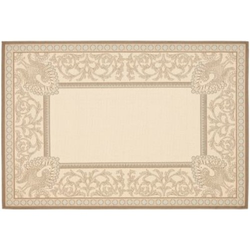 Safavieh Courtyard Beige/Dark Beige 7 ft. x 10 ft. Indoor/Outdoor Area Rug