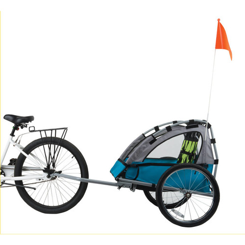 Bell Sports Smooth Sailer 2-Passenger Child Bicycle Trailer, Blue