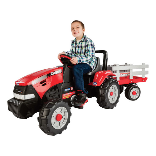 Peg Perego Case International Harvester Pedal Tractor and Trailer, Model# IGCD0554