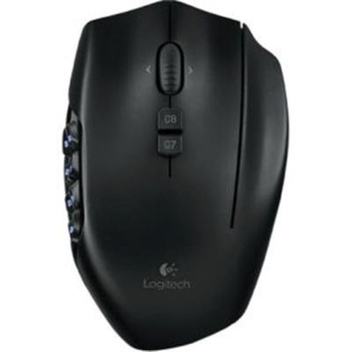Logitech G600 MMO Gaming Mouse, RGB Backlit, 20 Programmable Buttons [Black, Standard Packaging]