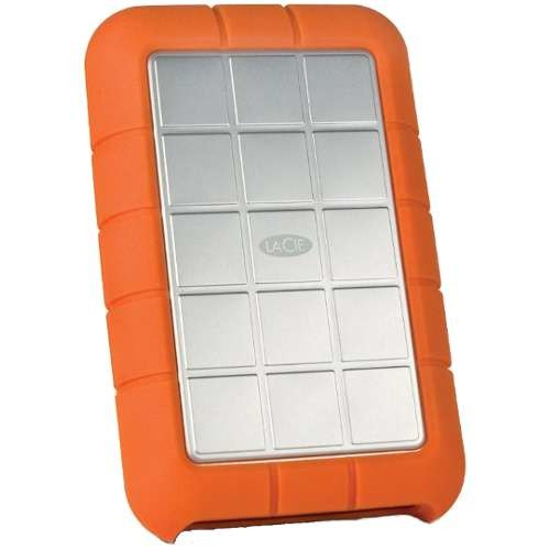 LaCie Rugged Triple 2TB External Hard Drive - 2TB Capacity, SATA, 5400 RPM Spindle Speed, 256-bit AES Encryption, Password Protection, USB 3.0, FireWire/i.LINK 800 - LAC9000448