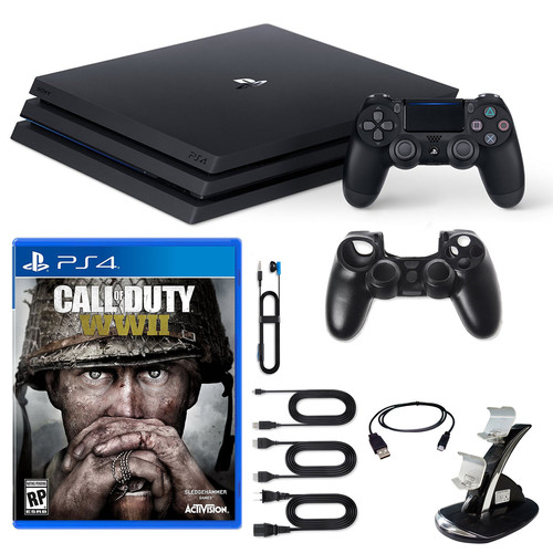 Sony PlayStation 4 Pro Console COD WWII and Accessories
