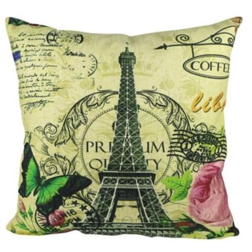 Pal Fabric Eiffel Tower Throw Pillow