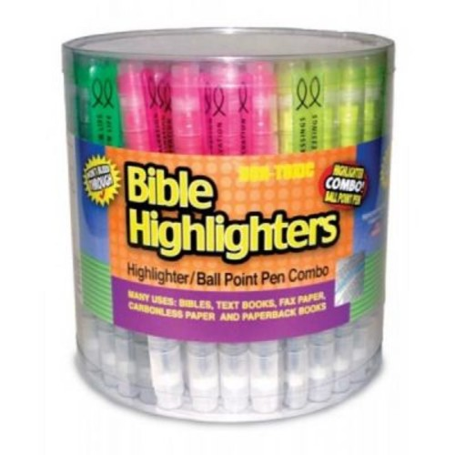 Divinity Boutique 97764 72 Piece Display - Highlighter Ball Point Pen Tube (ANCRD83988)