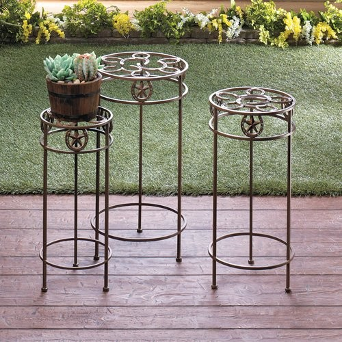 3 Piece Plant Stand Set
