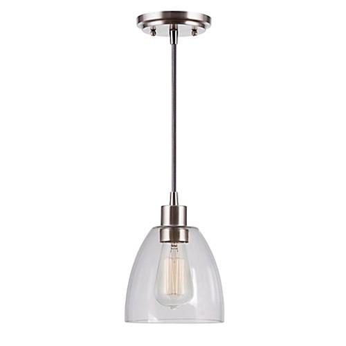Kenroy Home Edis 1-Light Mini Pendant in Brushed Steel