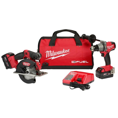 Milwaukee M18 FUEL 18-Volt Cordless Lithium-Ion Hammer Drill/Driver and Metal Circular Saw Combo Kit