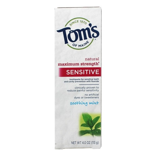 Tom's of Maine Sensitive Natural Toothpaste Soothing Mint -- 4 oz