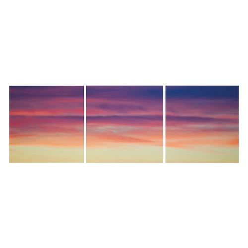 Nexxt Shutter Canvas Prints Purple Haze Wall Art Set