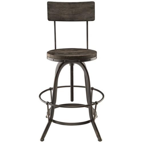 Modway Bar & Counter Stools Modway Wood Bar Stool [option : Black - Price in Cart]