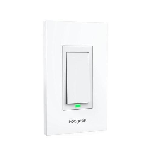 KOOGEEK Smart Wi-Fi Light Switch for Apple HomeKit with Siri Remote on 2.4Ghz Network