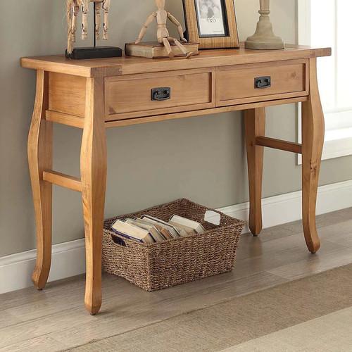 Linon Santa Fe Console Table, Antique Pine Finish
