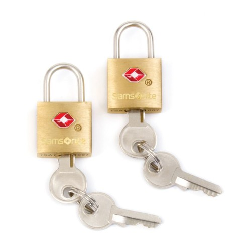 Samsonite Luggage Key Locks, Brass, Pack Of 2
