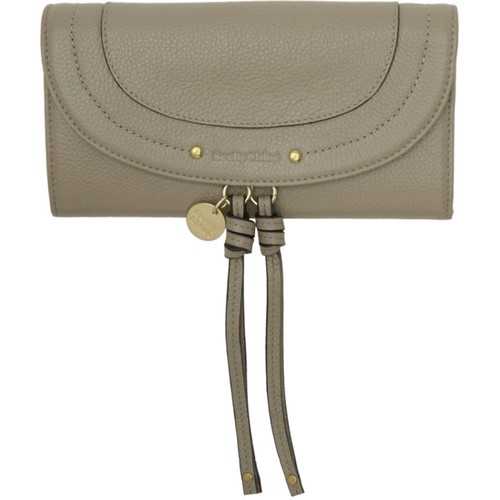 SEE BY CHLOÉ Grey Long Flap Wallet