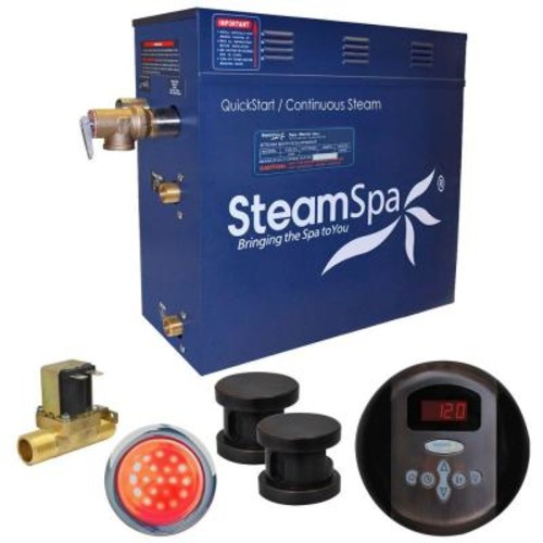 SteamSpa Indulgence 12kW QuickStart Steam Bath Generator Package with Built-In Auto Drain in Oil Rubbed Bronze