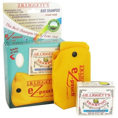 JR Liggett's - eZ-Pouch Travel Case and Ultra Balanced Shampoo Bar