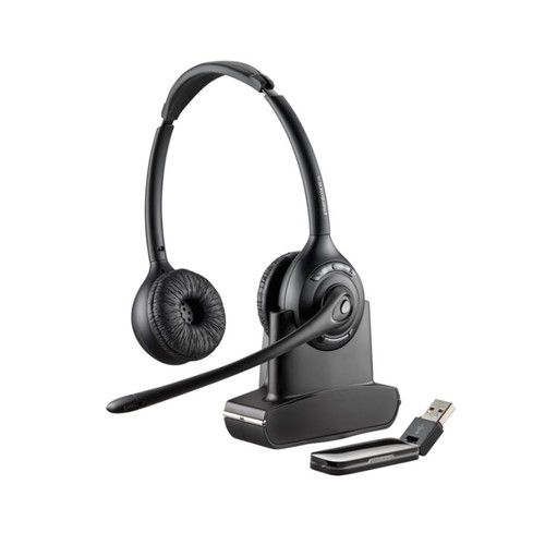 Plantronics Savi W420-M Wireless PC Headset System, Black