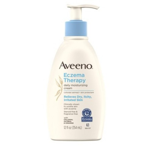 Aveeno Eczema Therapy Moisturizing Cream Relieves Irritated Skin - 12oz