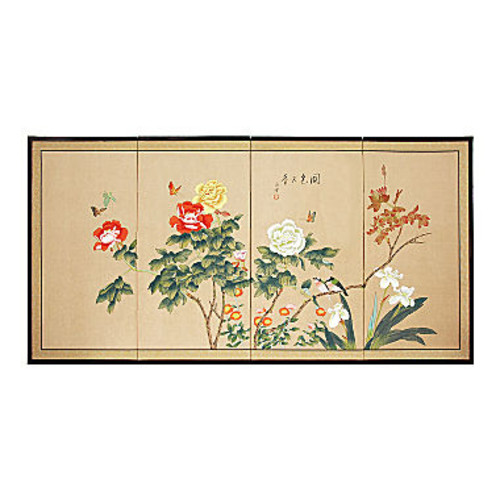 Oriental Furniture Butterflies In The Garden Animals + Insects Print JCPenney
