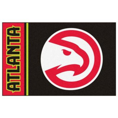 FANMATS NBA Atlanta Hawks Black 2 ft. x 3 ft. Area Rug